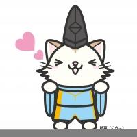 【イラスト】猫に晴明の格好をさせてみた
