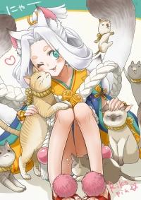 【イラスト】猫又