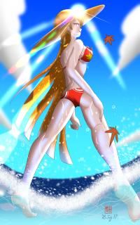 【イラスト】 鬼女紅葉(Summer of seaside)